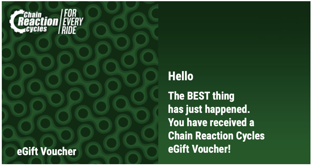 Best gifts for Mountain bikers - chain reaction voucher