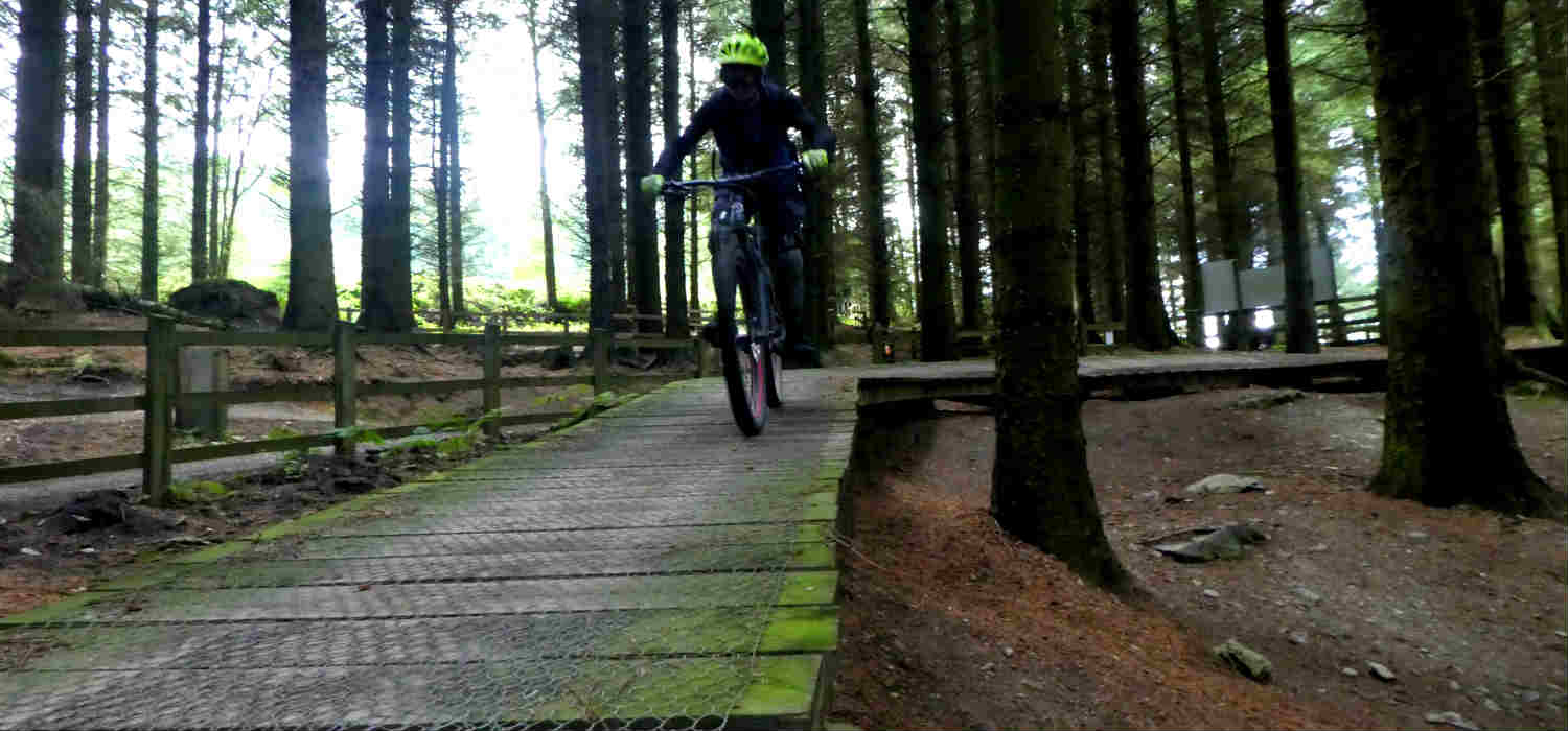 mountain biking north Wales