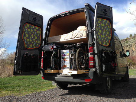 mountain bike camper van